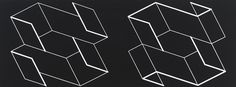 Josef Albers Duo H, 1966 Machine engraving on black laminated plastic