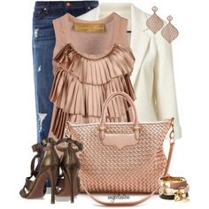 """Boyfriend Jeans and High Heel Sandals"" by angkclaxton on Polyvore"