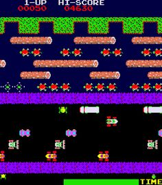 Frogger Screenshot - want to turn this into a quilt block