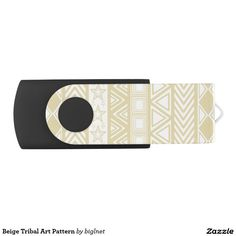 Beige Tribal Art Pattern Swivel USB 2.0 Flash Drive