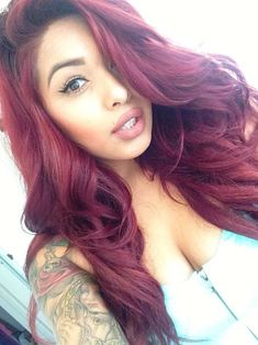 Proper Attachment Of Red Hair Extensions – My Hair Extensions Love Hair, Gorgeous Hair, Weave Hairstyles, Pretty Hairstyles, Curly Hair Styles, Natural Hair Styles, Virgin Indian Hair, Virgin Hair, Hair Laid