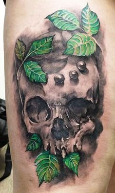 Realism Skull Tattoo by Augis Tattoo