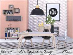 SimControl: Calligraphik Dining by Pilar • Sims 4 Downloads