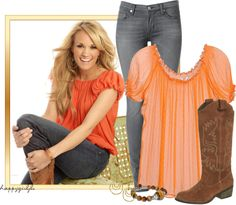 """""""GET THAT LOOK~CARRIE UNDERWOOD"""" by happygirljlc ❤ liked on Polyvore"""