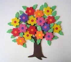 Resultado de imagem para flores de goma eva
