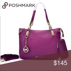 2016 Michael Kors tote purple leather coming soon Michael Kors 2016 purple leather...  coming soon authentic. Brand-new never worn or used... shoulder strap included.... mini wallet also included. Reasonable offers considered Michael Kors Bags Hobos