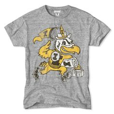 Cheer for the Hawkeyes with this vintage Herky t-shirt.