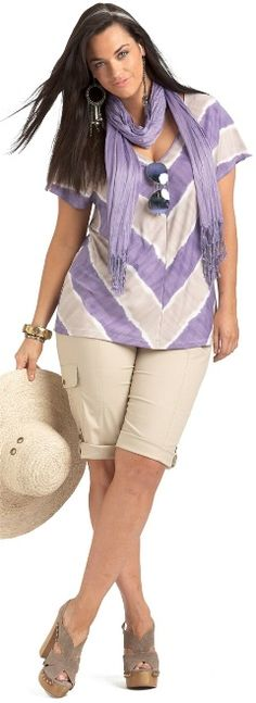 THE TROPICS PRINTED TOP## - Short Sleeved - My Size, Plus Sized Womens Fashion Clothing
