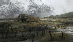 Mountain Plains, Marta Grajper on ArtStation at https://www.artstation.com/artwork/lr8LJ