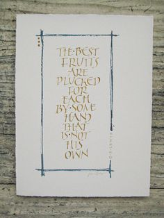 Original Calligraphy C. S. Lewis Quote by MillerLine on Etsy, $25.00