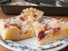 Tvarohová bublanina s ovocem French Toast, Sweets, Baking, Breakfast, Food, Essen, Morning Coffee, Gummi Candy, Candy