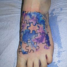 puzzle tattoos | Watercolor Puzzle Tattoo (looking for more watercolor tattoos ?)