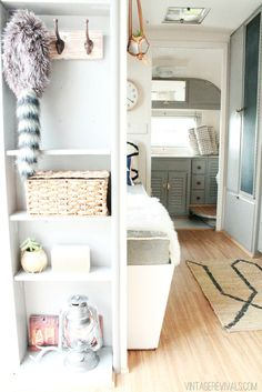 trailer living: this is inside a trailer! beautiful.