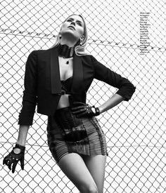 YVY Neckpiece and Skirt - Lena Gercke shot by Hunter & Gatti for People magazine germany www.yvy.ch