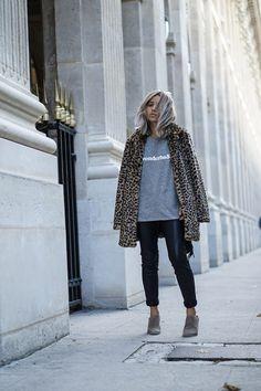 quality design d7785 02b7a 15 Formas De Usar Un Abrigo De Leopardo