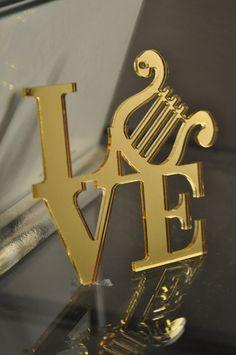 Alpha Chi Omega Lyre LOVE Ornament