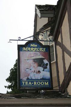 Agatha Christie and Tea! Agatha Christie, Miss Marple, Pub Signs, Shop Signs, Detective, Cuppa Tea, Street Signs, High Tea, Afternoon Tea