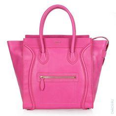 Сумка Celine модели Luggage розового цвета из натуральной кожи
