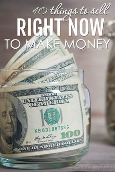 Whatever the reason that you need money right away, you don't have to sell your blood. There are tons of other things to sell and plenty to do. Take it from a single stay at home mom who's been making money from home for 17 years!!! Here are 40 things to sell right now to make money.
