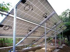 Parte trasera de los paneles fotovoltaicos