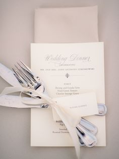 #place-settings, #silverware, #menu  Photography: Tim Willoughby - www.timwillphoto.com  Read More: http://www.stylemepretty.com/2014/12/17/romantic-charleston-fall-wedding/