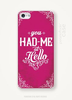 Jerry Maguire movie quote iphone case iPhone 4 or 5 plastic case iPhone case love phone case iPhone case phone case You Had me at Hello case