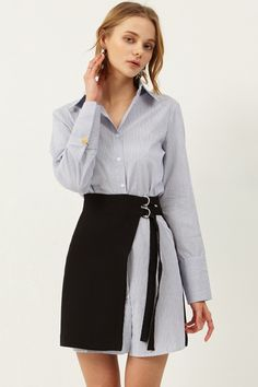 Jinny Shirt Dress Skirt Set Discover the latest fashion trends online at storets.com