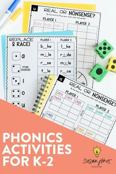 These phonics and phonemic awareness activities are perfect for kindergarten, first and second grade! In this blog post, I share 3 fun phonics activities to do with your students and I even share a free CVC game you can grab to try out in your classroom!