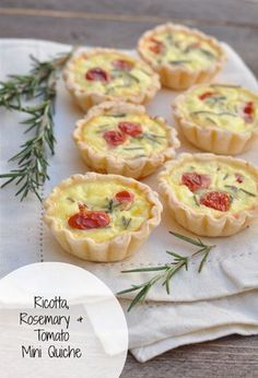 Ricotta, Rosemary, and Tomato Mini Quiche