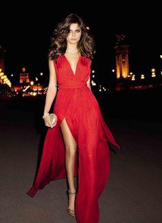 2014 Derin Yırtmaçlı Elbise Modelleri