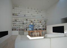 'Library House' Has A 20-Feet High Floor-To-Ceiling Bookshelf