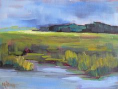Contemporary Artists of Florida: MARSH SCENE. 6X8, OIL, SOLD
