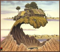 Please Don't Slam The Door - Jacek Yerka