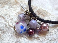 Hair Elastic Light Purple Color Tonbodama Bead by KanaBeadsGarden, $9.00