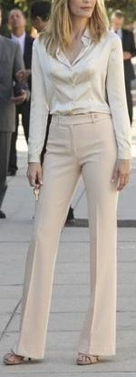 beige on beige. So chic! I wish she had Jet black hair, though.