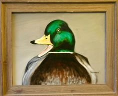"Quack!, 2015, 11"" x 14"", oil on canvas, $125 framed"