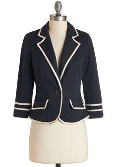 Outerwear - Academia Ahoy Blazer in Navy
