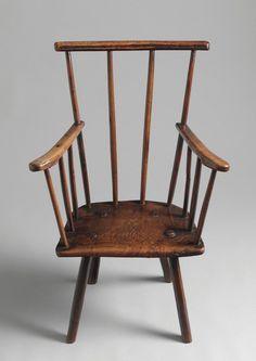 George III period primitive comb back Windsor chair, ash, English, circa 1770