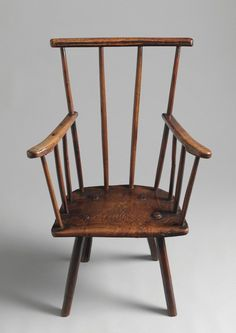 George III period primitive comb back Windsor chair, ash, English, circa 1770
