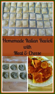 Homemade Italian Ravioli with Meat & Cheese Filling