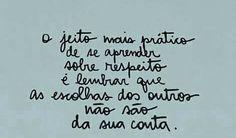 Respeito #frases
