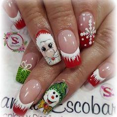 red glitter coffin nails for winter makeup inspiration 6 Santa Nails, Xmas Nails, Holiday Nails, Christmas Nail Designs, Christmas Nail Art, Merry Christmas, Winter Nail Art, Winter Nails, Winter Makeup
