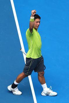 Kei Nishikori Photos: 2015 Australian Open - Day 4