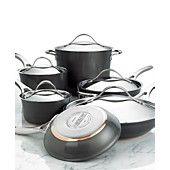 Anolon Nouvelle Copper Cookware, 11 Piece Set