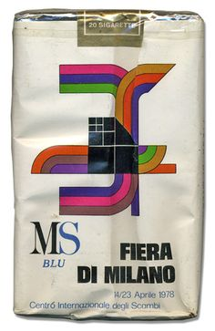 1978, Fiera Campionaria di Milano - Advertisement on state owned italian MS cigarets pack.