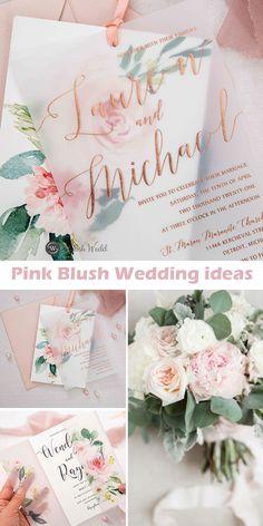 romantic pink floral layered wedding invitations #wedding#weddinginvitations#stylishwedd#stylishweddinvitations #vellumweddinginvitations