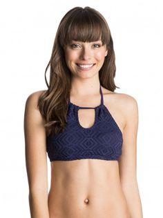 ef91641e20b Roxy Sand Dollar Halter Crop Top | Clothing Crop Top Bikini, Halter Crop Top ,