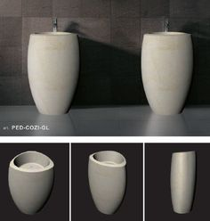 pedestal wash basins made of limestone Natural Materials, Basins, Pedestal, Tableware, Bathrooms, Marble, Products, Dinnerware, Bathroom