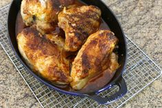 This baked chicken breast recipe is a snap to prepare with bone-in chicken breasts, paprika, and onions. The sour cream gravy made from the drippings is the perfect accompaniment.