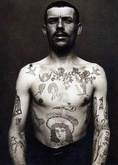 Russian tattooed man